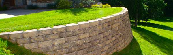 retaining wall installation - springfield