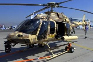 El Bell 406GT ilustra sus características de manejo en tierra (foto: Fernando Puppio).