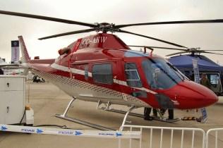 """AgustaWestland define al AW119Kx como el """"más grande y más poderoso helicóptero liviano monomotor, apto para amplia gama de misiones en las que ofrece a sus operadores los más altos niveles de flexibilidad y productividad"""" (foto: Michel Ancieux)."""