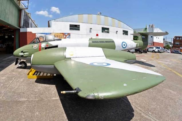 El C-071 es uno de los Gloster Meteor que se conserva en mejores condiciones en Argentina. (Foto: Esteban Brea)