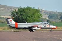 El L-29 listo para un vuelo de bautismo. (Foto: Esteban brea)