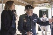 Teniente Coronel Jefe del EADA explicando a la ministra las capacidades del escuadrón (foto: José Luis Franco)