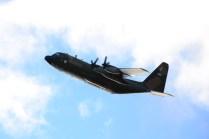 Un C-130H Hercules fue desplegado a la BAM Río Gallegos prestando vital apoyo durante esta misión. (Foto: ARA)