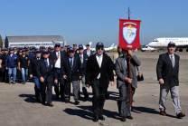 Los Veteranos de la Guerra de Malvinas fueron los encargados del cierre del dispositivo terrestre. (Foto: Andrés Rangugni)