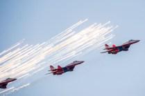 Los Russian Falcons y sus MiG-29 (foto: Rostec)