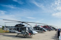 Line up de Russian Helicopters en MSK 2015 (foto: Rostec)