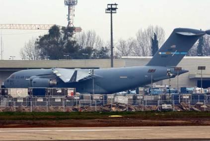 El 06-6167 fue otro de los C-17 Globemaster III afectados al despliegue del Vicepresidente Pence a Santiago de Chile. (Foto: Carlos Ay)