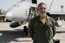 Coronel Miguel Ángel de la Torre jefe del Ala 15 de la Base Aérea de Zaragoza (foto: José Luis Franco Laguna)