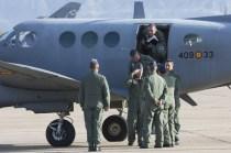 General Jefe del MACOM a su llegada a la Base Aérea de Zaragoza (foto: José Luis Franco Laguna)