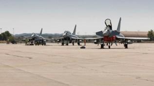 Línea de vuelo de Eurofighters (foto: Miguel Ángel Blázquez Yubero)