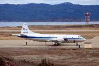 El P-3B de la NASA fotografiado en Ushuaia a poco de comenzar sus vuelos de la operación Ice Bridge 2017 (foto: Michel Invernoz).