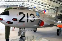 El F-80C FAU 213 fue visto en el Museo Aeronáutico de Carrasco para el Día del Patrimonio (foto: Faunáticos / Fanáticos de la Fau).