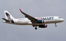 El qunto A320 para JetSmart - CC-AWE - en final corta al terminar su vuelo de entrega (foto: Rafael Reca).