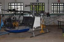 El el Sud Aviation SA 315A Lama (C/n M413) empleado como material didáctico. (Foto: E. Brea)