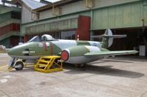 El Gloster Meteor Fmk.4 C-071 también pudo ser visitado en el patio externo. (Foto: E. Brea)