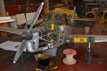 El Percival Prentice T.1 E-350 también expuesto en el taller. (Foto: E. Brea)