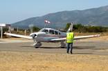 Un monomotor Piper PA-28 llegando luego de un sobrevuelo por linea de costa (foto: Javier Vera Martínez/La Serena Spotting).