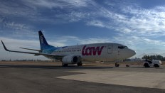 El CC-AVL rodando a plataforma comercial para un vuelo a Lima (Perú). La imagen fue tomada en el último Nuevo Pudahuel Spotter Day de diciembre de 2017 (foto: Carlos Ay).