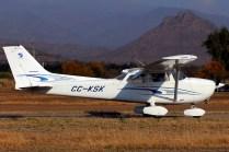 Santiago Air Club Cessna 172 Skyhawk II CC-KSK (photo: Carlos Ay).