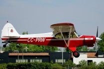 Super Cub: Gerd Eylerts landing Piper PA-18 CC-PRW (photo: Carlos Ay).