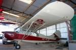 Champion 7EC CC-PJP inside GoJump's hangar (photo: Carlos Ay).