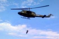 UH-1H Huey II AE-464 at the rescue hoist training course held in Campo de Mayo in October (photo: Ricardo Alen).