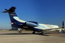 Legacy 650 N650EE, as exhibited by Embraer (photo: Carlos Ay).