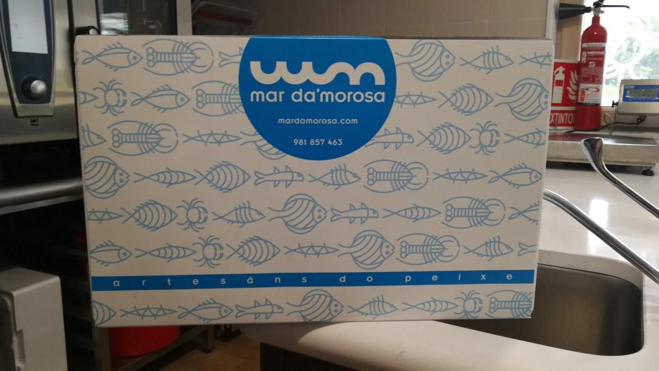 Caja donde se envían los productos de Mar Da'Morosa.