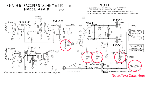 small resolution of filter cap schematic wiring diagram detailed pnuematic baffle schematic symbol cap job on my 1963 fender