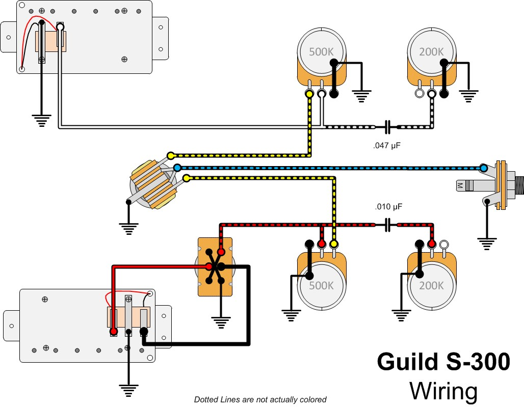 guitar wiring diagrams explained trane furnace diagram guild schematics best site