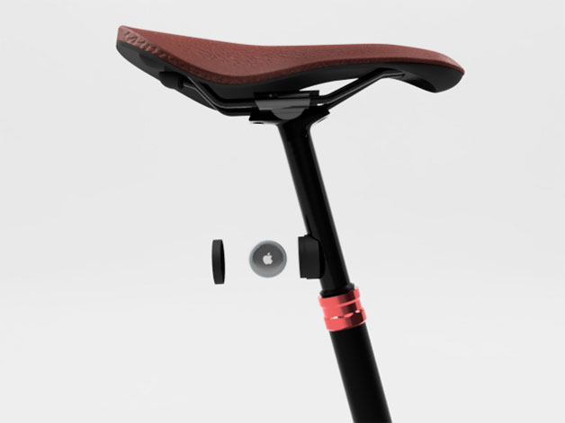 Fahrradhalterung Reflektor für die Sattelstütze seitenansicht einzelteile