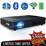 WOWOTO T8E Full HD Mini Portable Projector WiFi&Bluetooth Home Theater Projector Support 1080P Max300