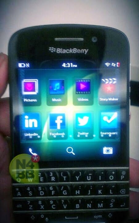 telefon Blackberry X10 fata