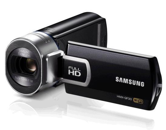 camera video samsung camcorder QF30 unghi fata