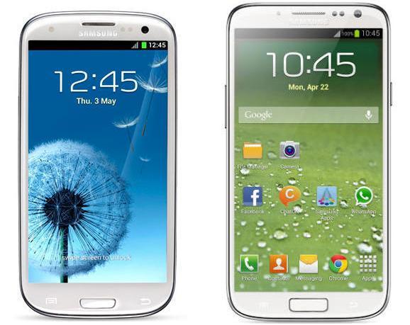 comparatie Samsung GALAXY S4 GT-I9500 vs GALAXY S3 GT-I9300