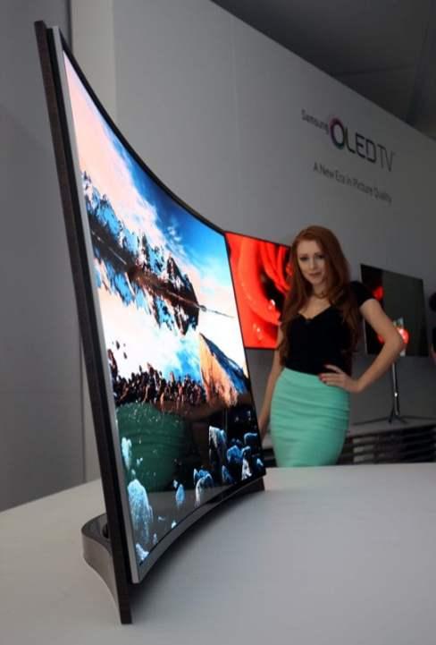 primul televizor OLED Samsung cu ecran curbat