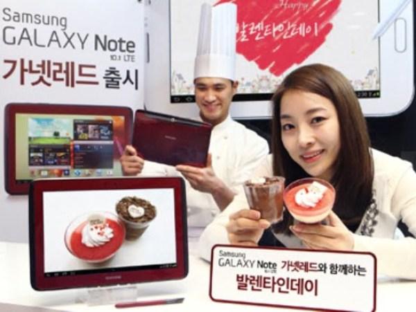 Garnet Red Samsung GALAXY Note 10.1