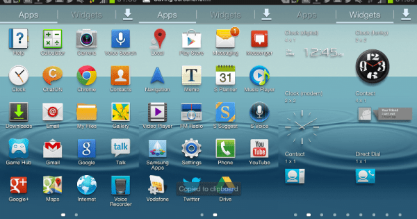 galaxy s3 mini software apps