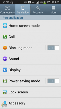 Samsung GALAXY S4 Screenshot (2)
