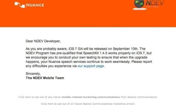Actualizarea iOS7