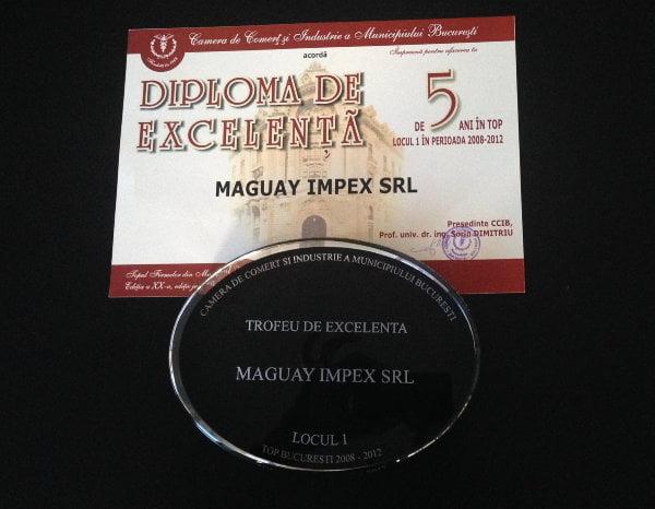 CCIB_Diploma de Excelenta_Maguay Impex