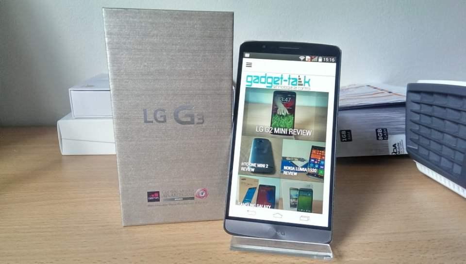 despachetare LG G3