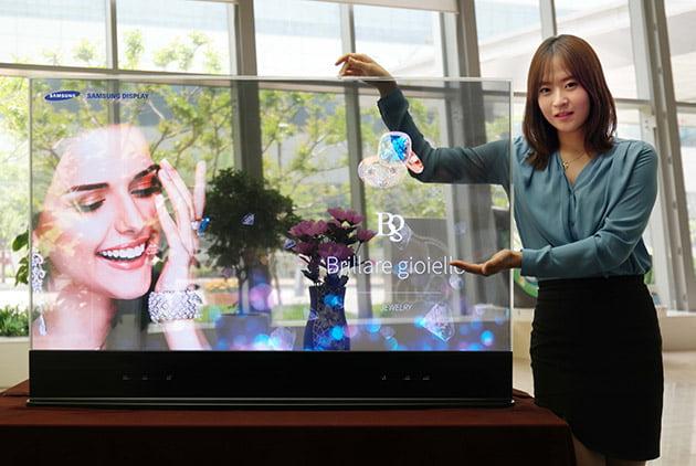 Afisaj OLED Samsung transparent