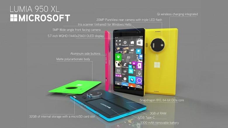 Specificatiile complete ale Microsoft Lumia 950 XL