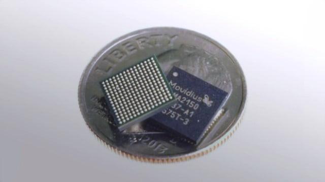 Foto microprocesor Movidius Myriad 2 VPU