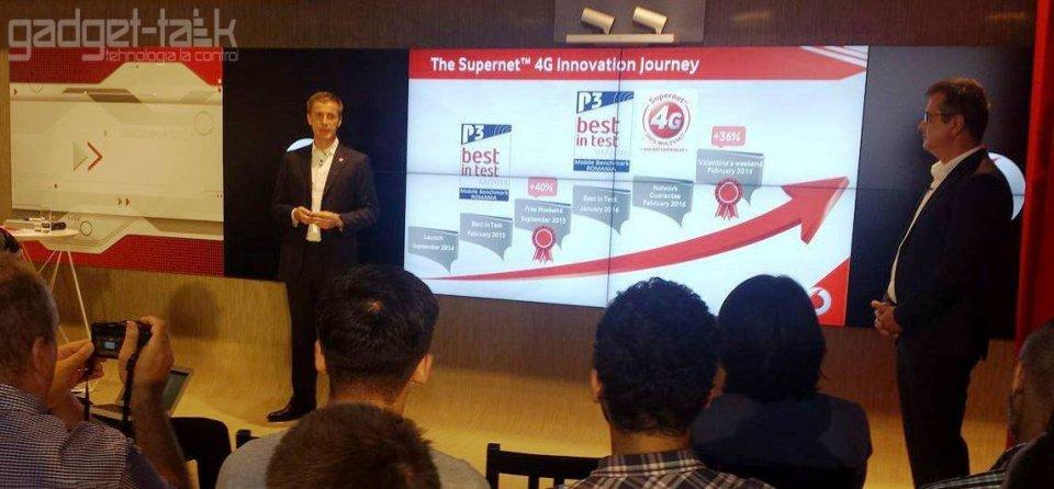 Vodafone creste viteza de Internet pe mobil, cu lansarea Supernet 4G+