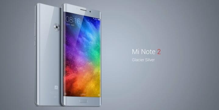 Xiaomi anunta Mi Note 2