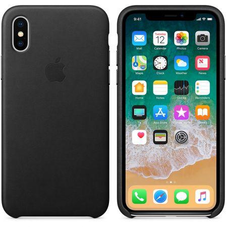 husa iphone X piele neagra