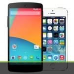 iPhone5S    VS     Nexus5