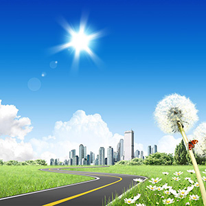 summer-in-the-city-sun-sky-road-dandelion-digital-art-1920x1200-wallpaper422354